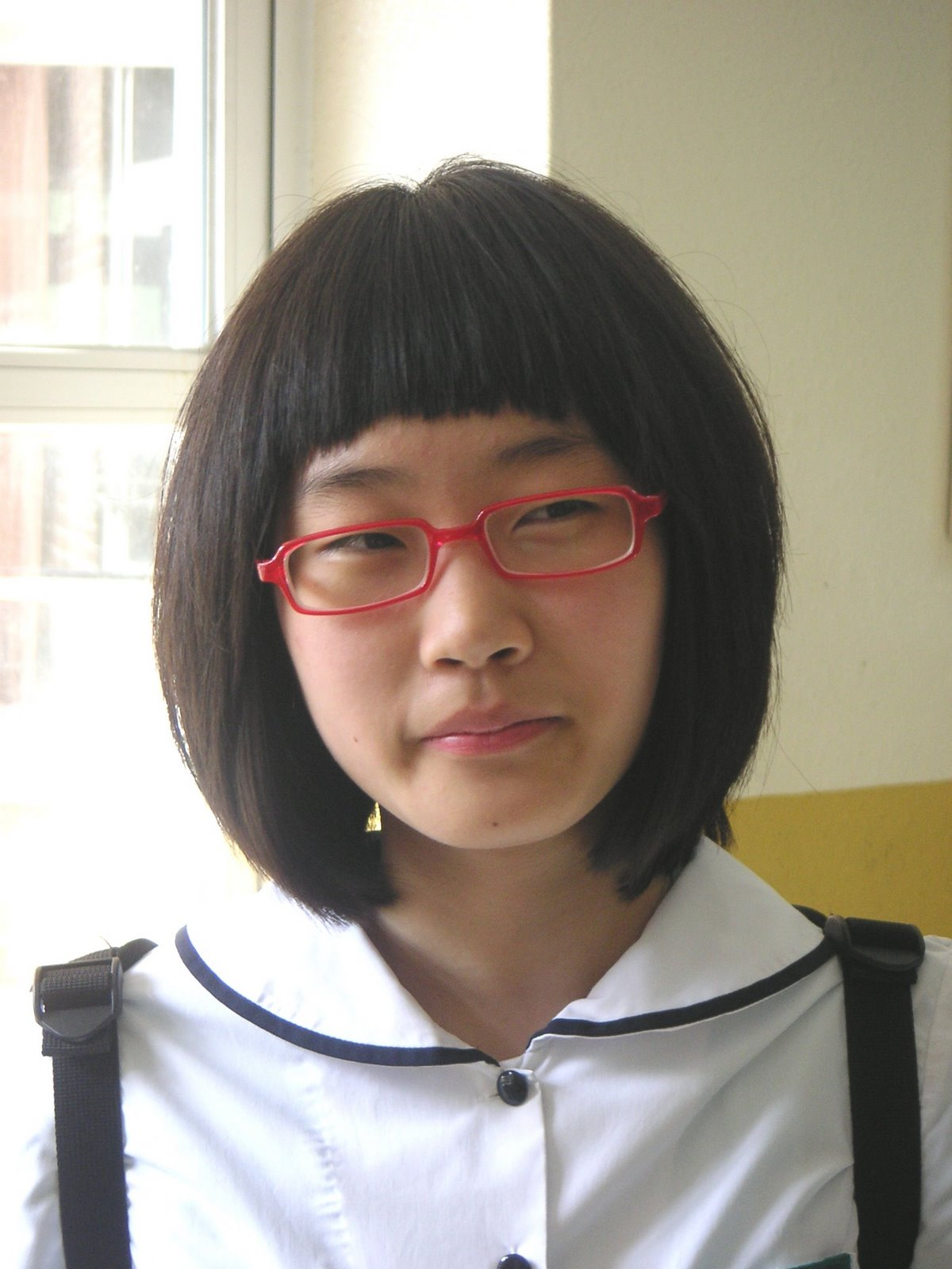 glasses girl Asian nerd