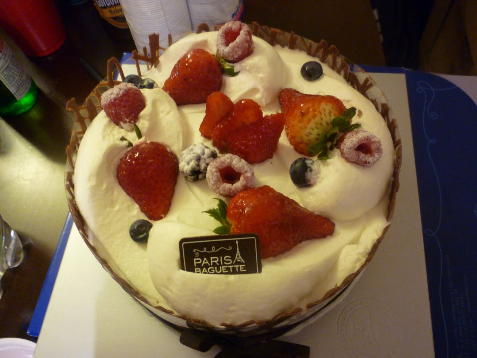 Paris Baguette Birthday Cake